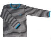 Tričko hnědo-béžové s proužkem