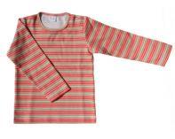 Tričko lososovo-zelené proužky