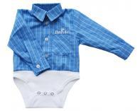 Košilkové body - kostkované modré