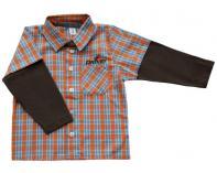 Košilka - oranžovo-modrá kostka
