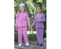 Tepláková souprava dívčí - fialová